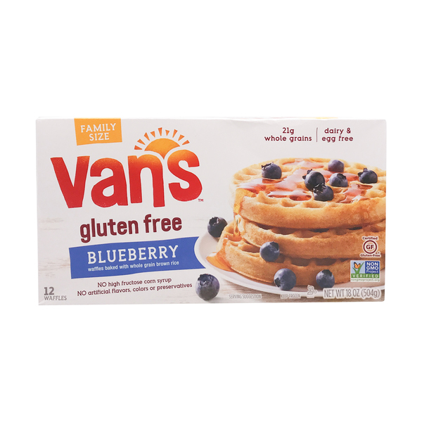 Vans international foods Family Size Blueberry Waffles 12 Count, 18 oz
