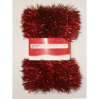 Holiday Time Red Promotional Tinsel Garland