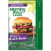 Morningstar Farms Spicy Black Bean Frozen Veggie Burgers - 4ct