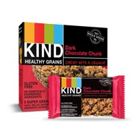 KIND Healthy Grains Granola Bar, Dark Chocolate Chunk, 1.2 Oz, 5 Ct