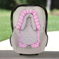 On the Goldbug 2-in-1 Newborn Infant Head Support, Insert for Car Seat, Pink