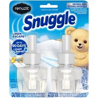 Renuzit Snuggle Scented Oil Refill For Plugin Air Fresheners Linen Escape - 2ct