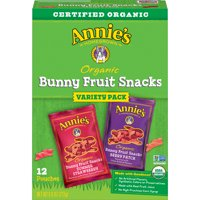 Annie's Organic Bunny Fruit Snacks, Variety Pack, 12 ct