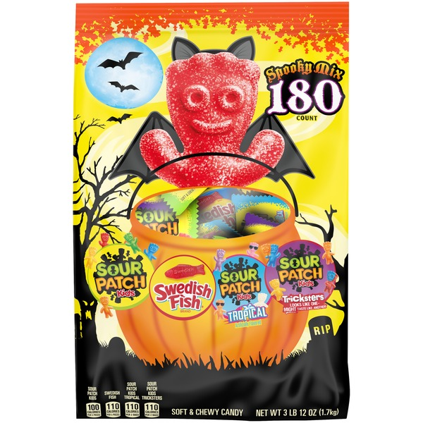 Sour Patch Kids & Swedish Fish Spooky Mix Candy Variety Pack