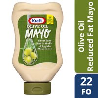Kraft Mayo Reduced Fat Mayonnaise with Olive Oil, 22 fl oz Bottle
