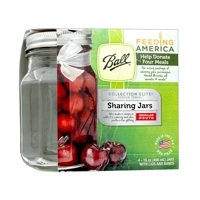 Ball Elite Glass Sharing Jars W/ Lids & Bands, Regular Mouth, 16 Ounces, 4 Count