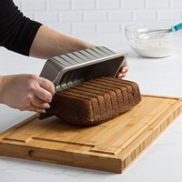 Tasty Non-Stick Large Loaf Pan with Guidelines for Even Slices, 9