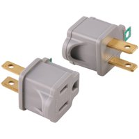 Hyper Tough Polarized Grounded Plug-in Type Adapter, 2-Pack