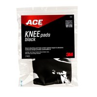 ACE Knee Pads, Shock-Absorbing, Breathable Material, One Size Fits Most, Black, 2 Pads/Pack