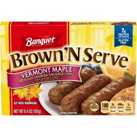 Banquet Brown 'N Serve Maple Precooked Sausage Links, 6.4 Ounce Box, 10 Count