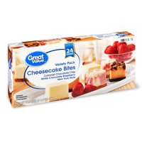 Great Value Variety Pack Cheesecake Bites, 17.5 oz, 24 Count