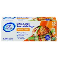 Kroger Home Sense Super Size Zipper Sandwich Bags