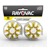 Rayovac Size 10 Hearing Aid Batteries, 32-Pack 10-32