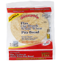 Joseph's Flax, Oat Bran & Whole Wheat Flour Pita Bread, 6 ct