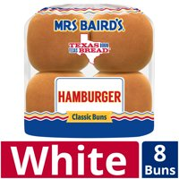 Mrs Baird's Hamburger Buns, 8 count, 12 oz