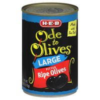 H-E-B Ode To Olives Large Pitted Black Olives