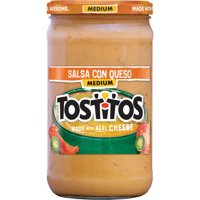 Tostitos Brand Dips & Salsas Medium Salsa Con Queso, 23 Oz.