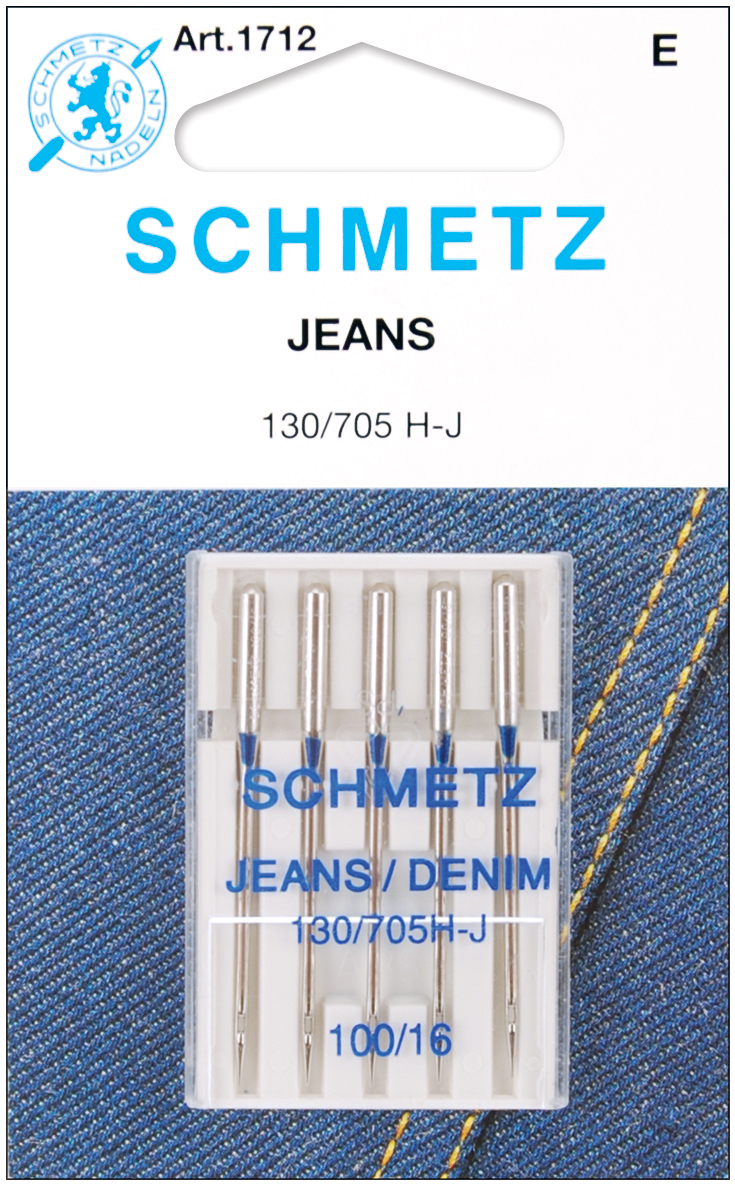 Schmetz Size 100/16 Jean & Denim Machine Needles, 5 Count