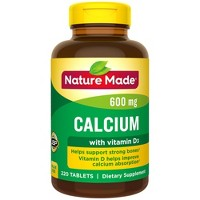 Nature Made Calcium 600 mg Tablets with Vitamin D3 - 220ct