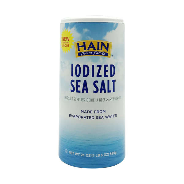Hain Iodized Sea Salt, 21 oz