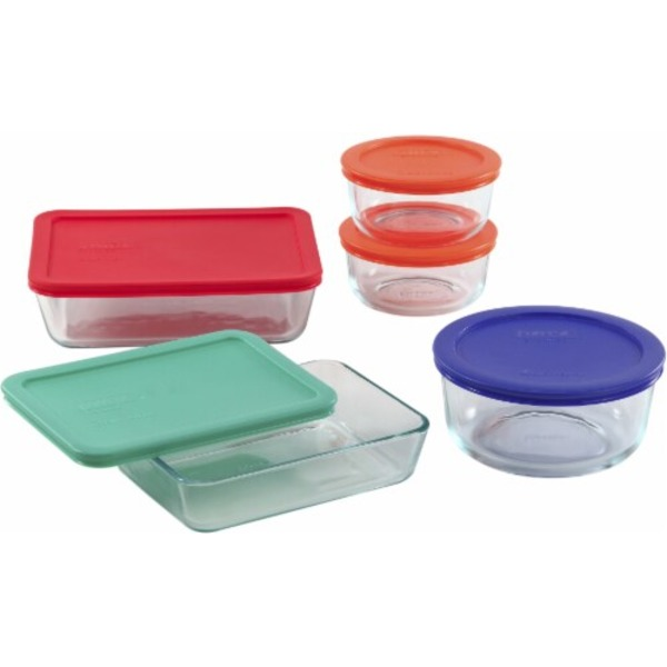 Pyrex Glass Storage, 10 Piece