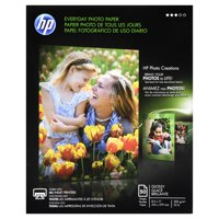 HP Everyday Photo Paper, Glossy, 8-1/2 x 11, 50 Sheets/Pack -HEWQ8723A