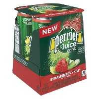 Perrier & Juice Strawberry and Kiwi Flavored Juice Drink - 4pk/8.45 fl oz Cans