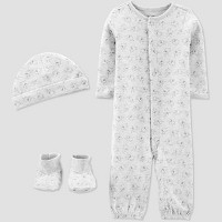 Baby Convertible Nightgown with Cap and Booties - Just One You® made by carter's Gray