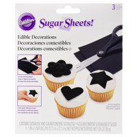 Wilton Sugar Sheets Edible Decorating Paper, Black, 1.05oz