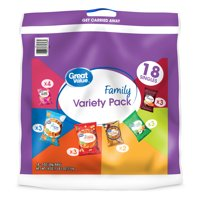 Great Value Chips Family Variety Pack, 18 oz, 18 Count