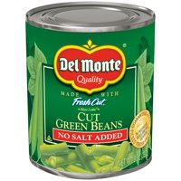 Del Monte Fresh Cut Blue Lake Cut Green Beans, No Salt Added, 8 Oz