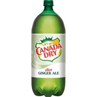 Diet Canada Dry Ginger Ale, 2 L bottle
