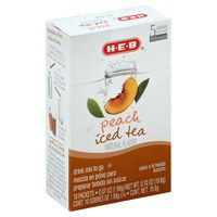 H-e-b Peach Iced Tea Flavored Drink Mix To Go Packets