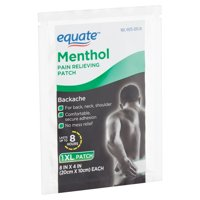 Equate Menthol Pain Relieving Patch, XL
