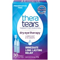 TheraTears Lubricant Eye Drops Dry Eye Therapy Preservative Free, 30ct