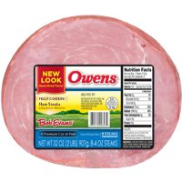 Owens Ham Steaks, 8 count, 32 oz