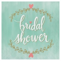 16ct Mint To Be Bridal Shower Napkins
