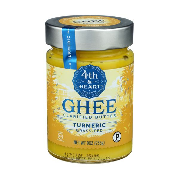 4th & heart Ghee Turmreic Grass Fed, 9 oz