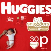 HUGGIES Little Snugglers Diapers, Size Preemie, 30 Count