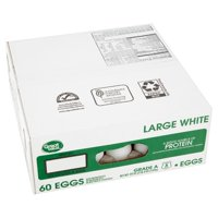 Great Value Large White Eggs, 60 count, 120 oz
