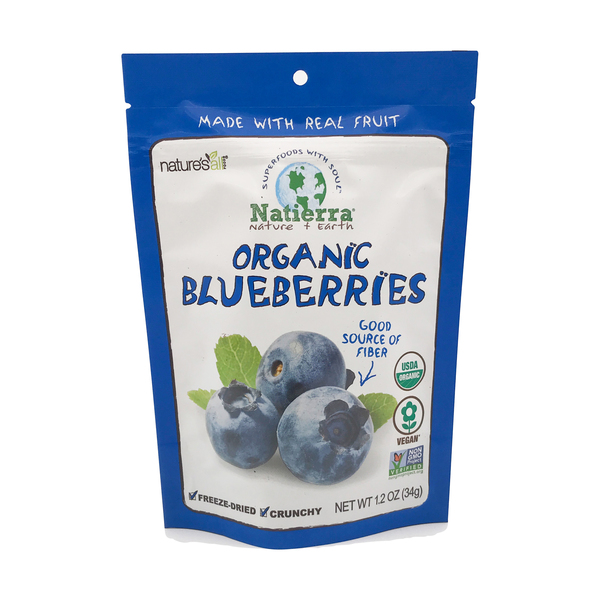 Nature's all Organic Freeze-dried Blueberries, 1.2 oz