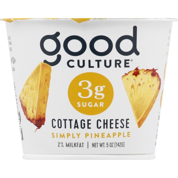 Good Culture Cottage Cheese, 2% Milkfat, Simply Pineapple