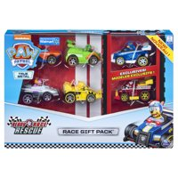 PAW Patrol, True Metal Ready Race Rescue Gift Pack of 6 Race Car Collectible Die-Cast Vehicles, 1:55 Scale