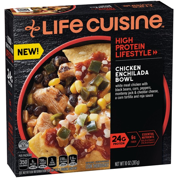Life Cuisine Chicken Enchilada Bowl Frozen Meal