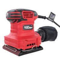 Hyper Tough 2.0-Amp Palm Sander, 1/4 Sheet AQ20035G