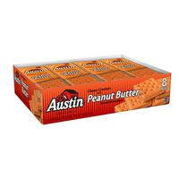 Austin Sandwich Crackers Peanut Butter on Cheese Crackers