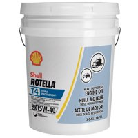 Shell Rotella T4 Triple Protection 15W-40 Diesel Engine Oil, 5 gal