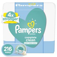 Pampers Baby Wipes Complete Clean Scented 3X Pop-Top Packs 216 Count