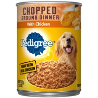 Pedigree Chopped Ground Dinner With Chicken Adult Canned Wet Dog Food, 13.2 oz. Can