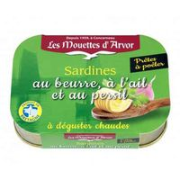 Les Mouettes d'Arvor Sardines With Garlic & Parsley Butter